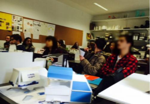 Apresentação de propostas dos alunos de Estudos de Design da ESEC